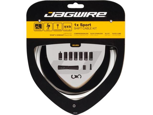 Jagwire 1X Sport Shift Set Cavo Del Cambio, white